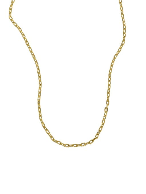 Xlb025 [18K gold chain without pendant] 925 Sterling Silver Minimalist Letter  Pendant